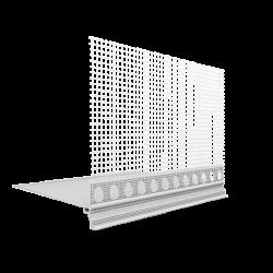 PVC cokolinis profilis su tinkleliu EJOT PRAKTIKA 2m.