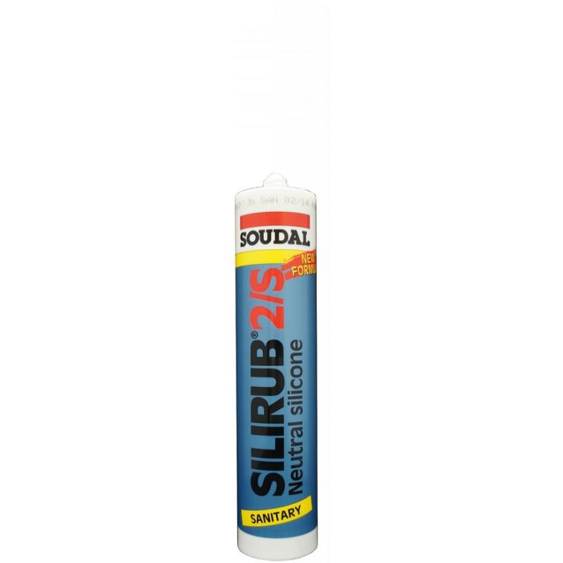 Soudal SILIRUB 2/S neutralus sanitarinis silikonas