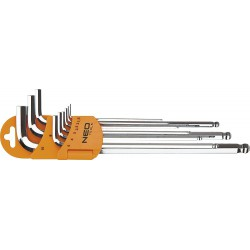 Šešiakampiai raktai Topex NEO 1,5-10mm 9 vnt.