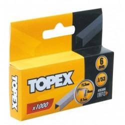 Kabės Topex J - tipo 1000 vnt.