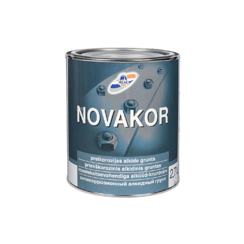 Antikorozinis gruntas Novakor šviesiai pilkas 2.7 l.