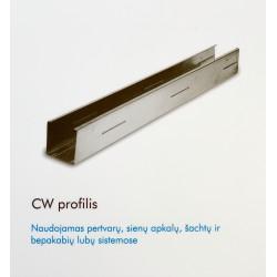 KNAUF CW-PROFILIS PERTVAROM 50 MM PLOČIO