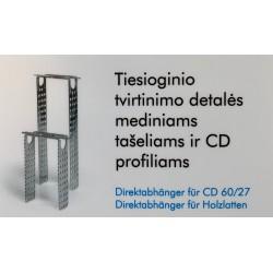 KNAUF TIESIOGINĖ PROFILIŲ TVIRTINIMO DETALĖ CD-14