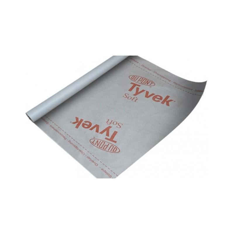Vieno sluoksnio Difuzinė plėvelė Tyvek® Soft 75kv.m 60g