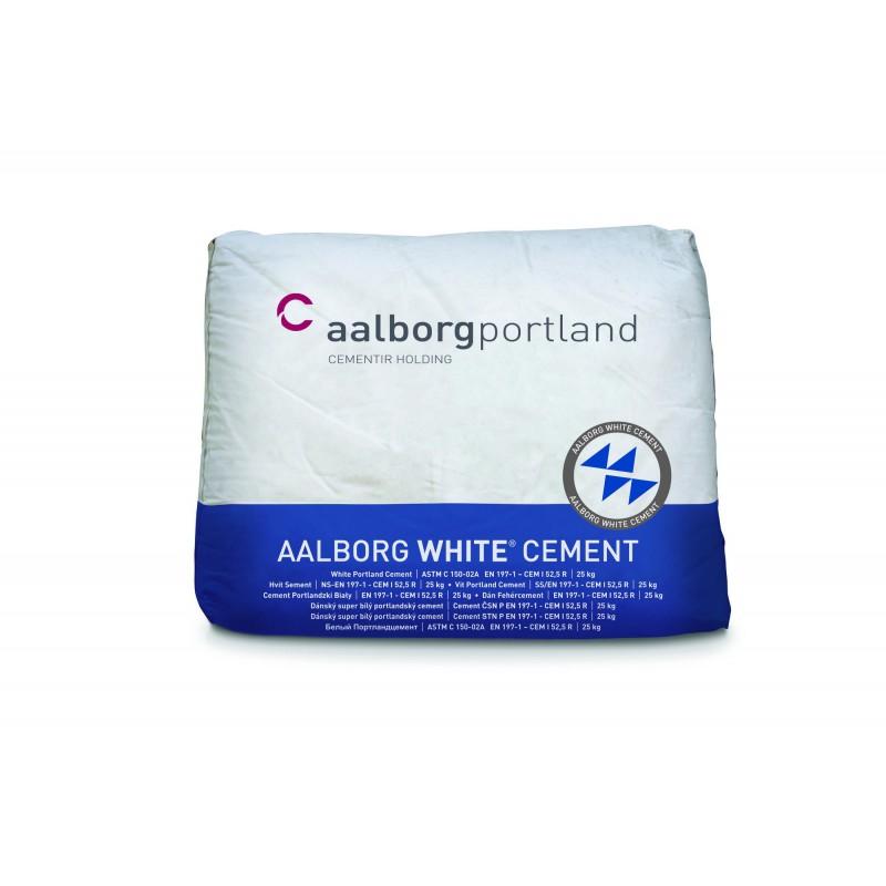Baltas cementas Aalborg White 25kg