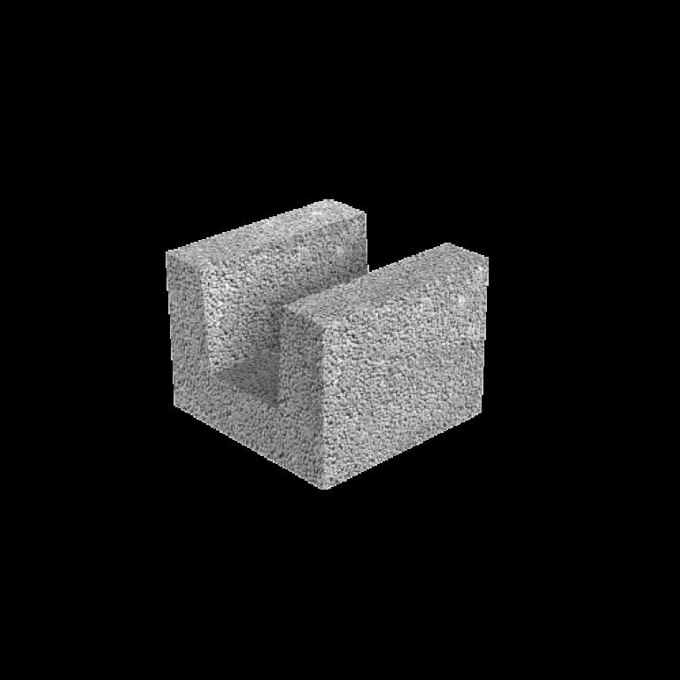 FIBO keramzitinis blokelis 5 MPa 490 x 250 x 185 mm