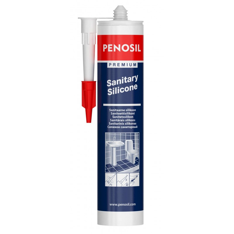 Rūgštinis nepelijantis hermetikas PENOSIL Premium Sanitary Silicone
