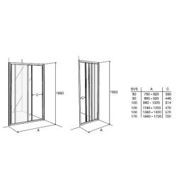 Dušo durys Ifö Solid SVS VS 17