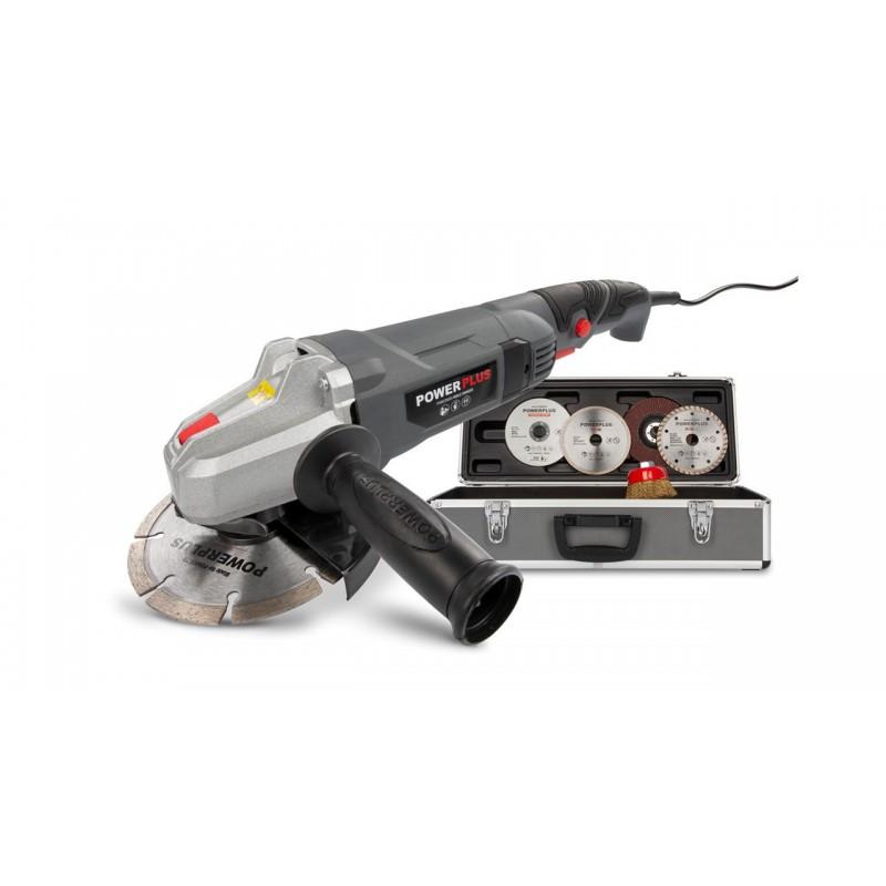 Kampinis šlifuoklis 900W Ø125mm + priedų rinkinys