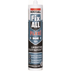 Kliuojantis hermetikas SOUDAL Fix All Flexi, baltos sp., 290ml
