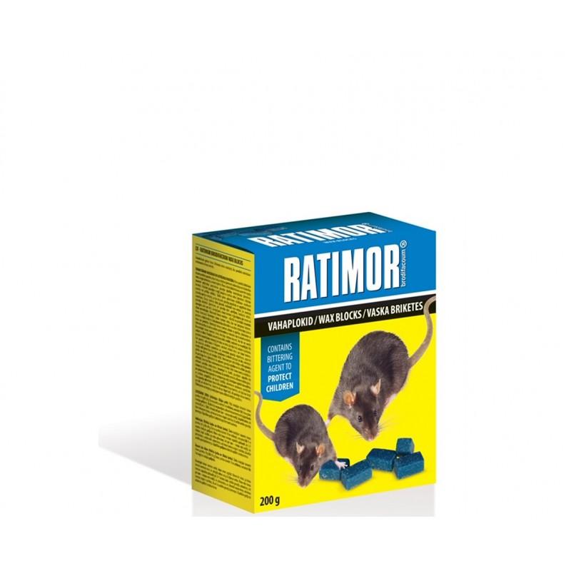 RATIMOR. Presuoti gabalėliai nuo pelių ir graužikų 200 g