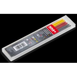 SOLA Šerdys atsarginės universalios TLM pieštukui 14cm, 6 vnt. (geltonos, raudonos, pilkos)